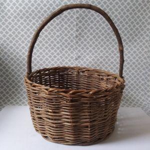 Vintage handmade wood Easter Basket
